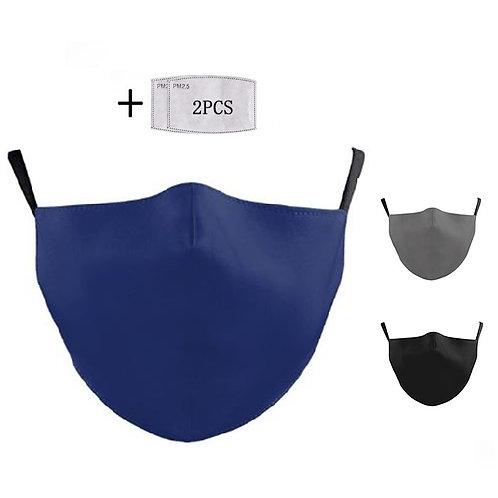 masque mixte en tissu uni