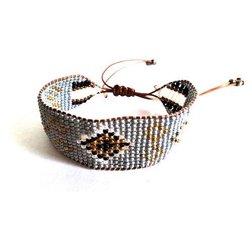 Bracelet amérindien en perles de rocaille
