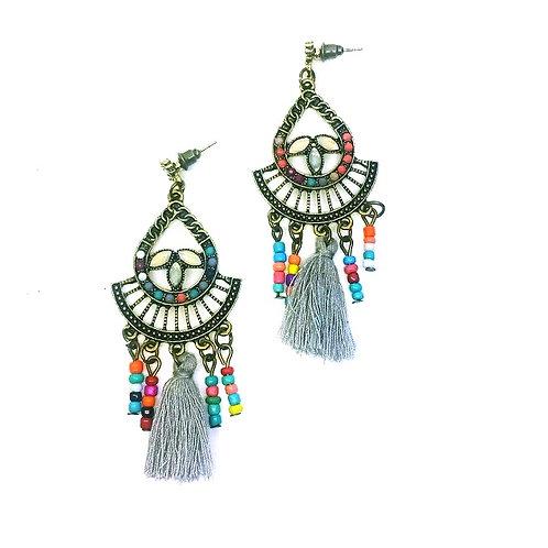Boucles d'oreilles chandelier pompon