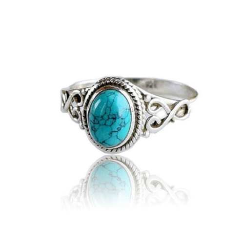 Bague pierre turquoise vintage