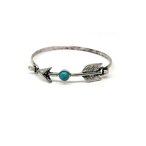 Bracelet amérindien flèche pierre turquoise