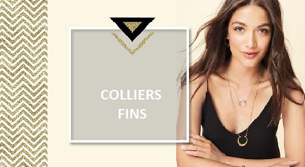 Une large sélection de colliers fins, collier chaîne multirang.Idéal pour jouer la carte de l'accumulation, les colliers fins sont proposés en différentes longueurs pour habiller votre décolleté de chaînettes.