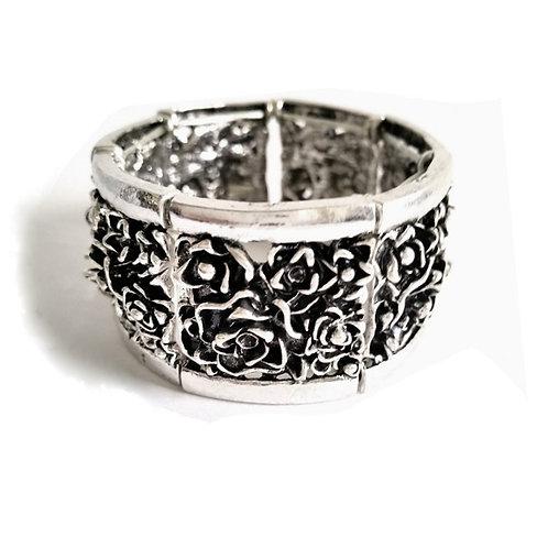 Bracelet manchette fleur