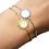 Bracelets acier doré ou argenté forme soleil pastille nacre