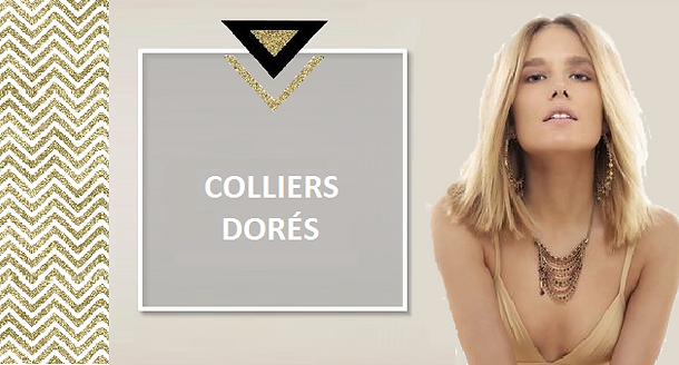 La mode cette saison tend plutôt vers les bijoux dorés. Pour un effet plus habillé, optez pour un collier en métal doré, brillant ou vieil or. Un collier doré sublime un décolleté hâlé et magnifie votre teint. Au quotidien,pour une touche citadine, vous choisirez une chaînette fine dorée, agrémentée d'un pendentif discret.
