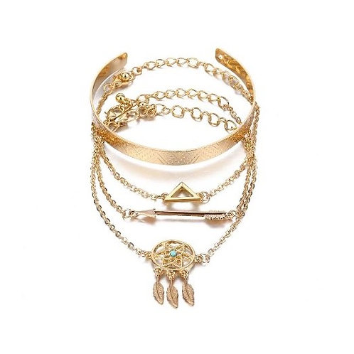 Lot de 5 bracelets amérindien attrape rêve