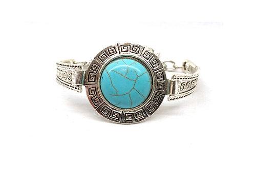 Bracelet vintage turquoise ronde