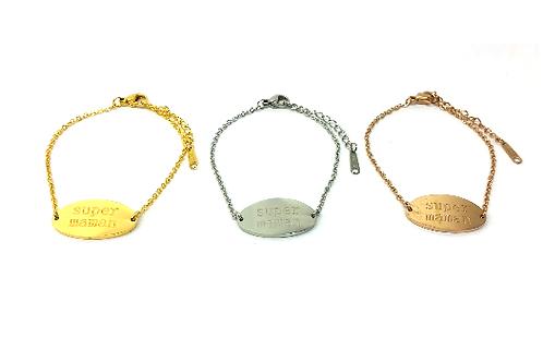 Bracelet acier à message cadeau fête des mères