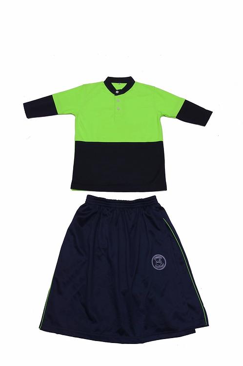 ID: SK2009 (Kids Collar Tshirt with Skirt)