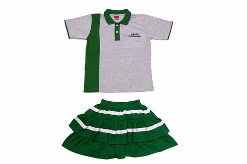 ID: SK2004 (Kids Collar Tshirt with Shorts)
