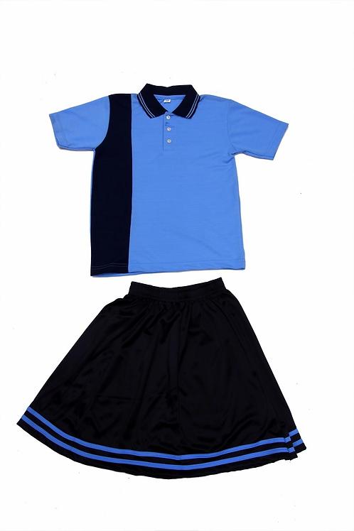 ID: SK2010 (Kids Collar Tshirt with Skirt)
