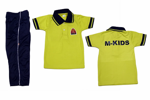 ID: SK2016 (Kids Collar Tshirt with Trackpant)