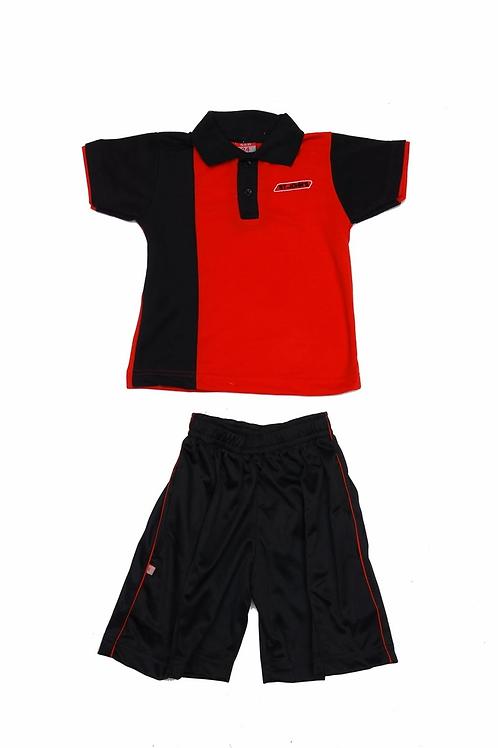 ID: SK2012 (Kids Collar Tshirt with Shorts)