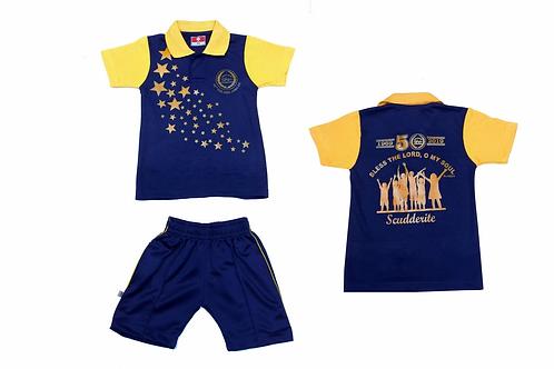 ID: SK2006 (Kids Collar Tshirt with Shorts)