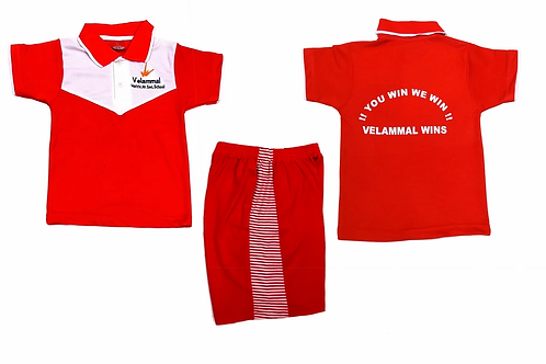 ID: SK2011 (Kids Collar Tshirt with Shorts)