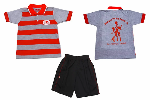 ID: SK2007 (Kids Collar Tshirt with Shorts)