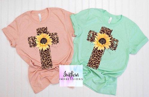 Sunflower Cross