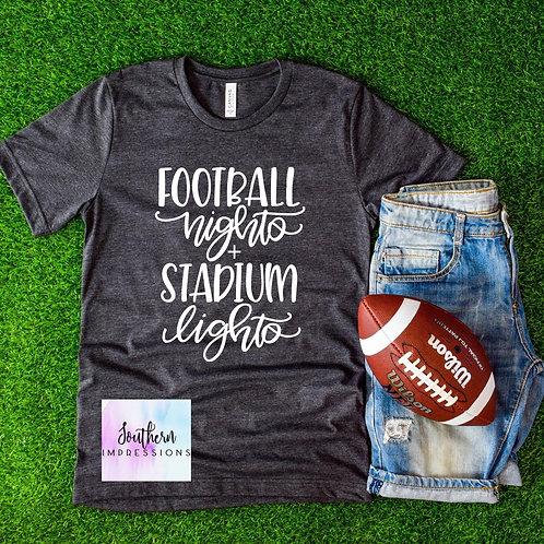 Football Night and Stadium Lights