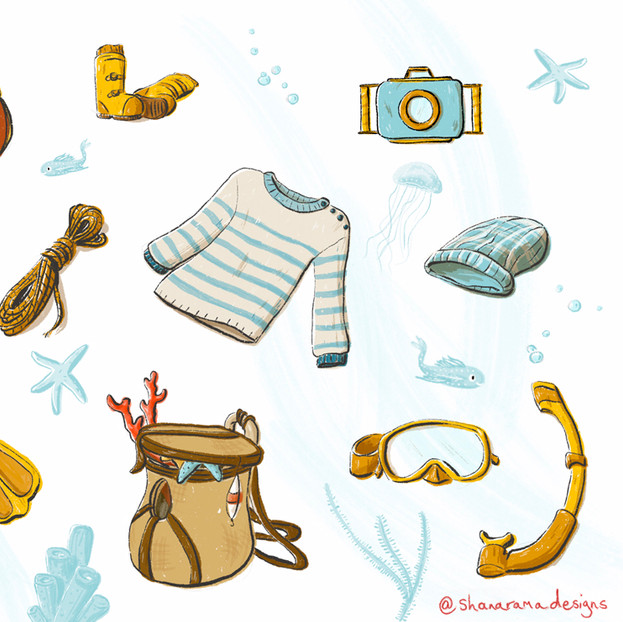 Seaside Accessories Study