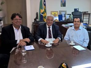 Representantes da Asban são recebidos pelo Secretário de Estado Vilmar Rocha