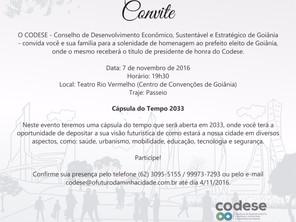 CODESE Conselho de Desenvolvimento Econômico Sustentável e Estratégico de Goiânia Convida