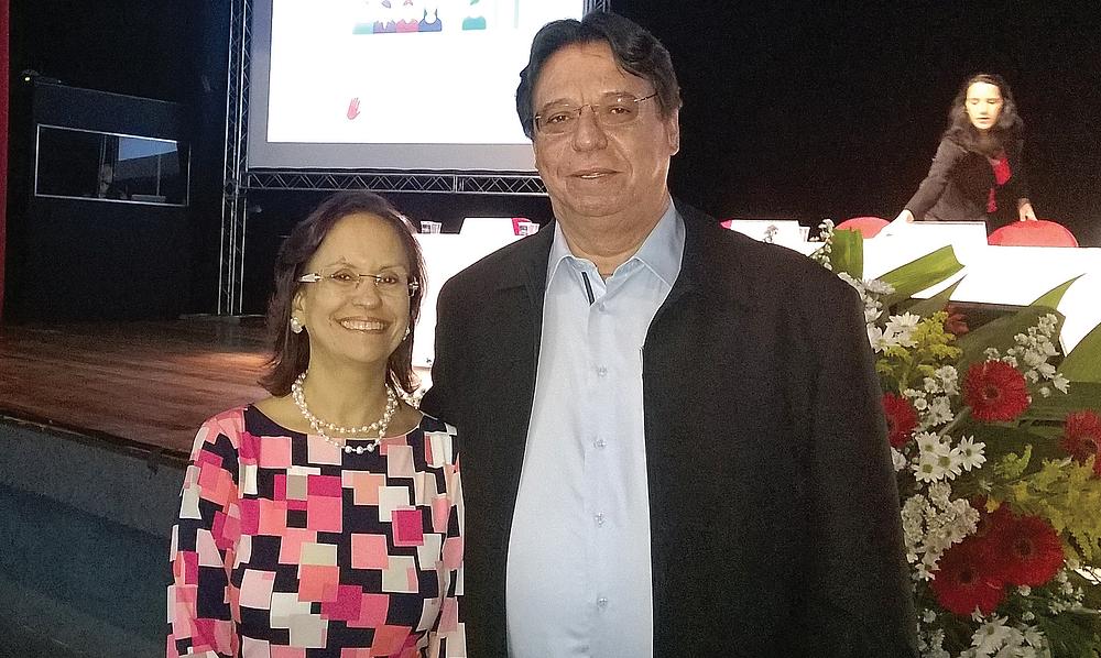 Procuradora-chefe do MPT em Goiás, Janilda Guimarães de Lima, e o presidente executivo da Asban, Mário Queiroz