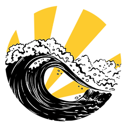 logo plain - yellow B&W waves no-words 4