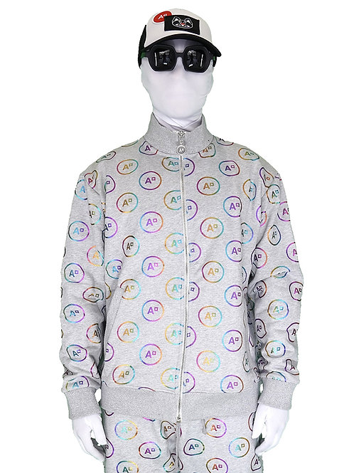 SWEAT JOGGING MONOGRAM HEATHER GREY & MULTICOLOR