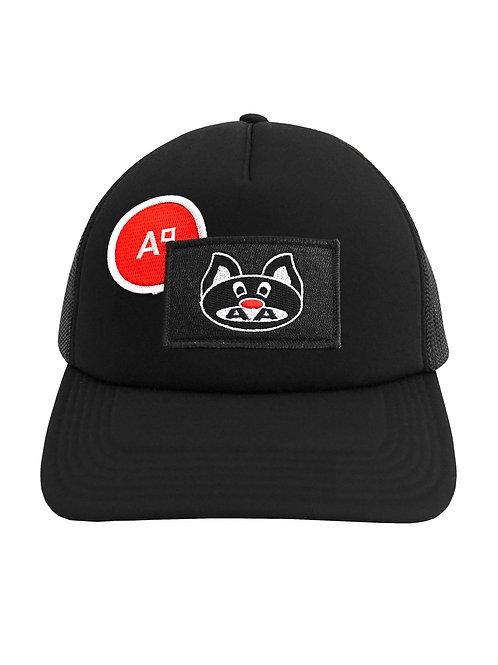 CAP TRUCKER BLACK & BLACK