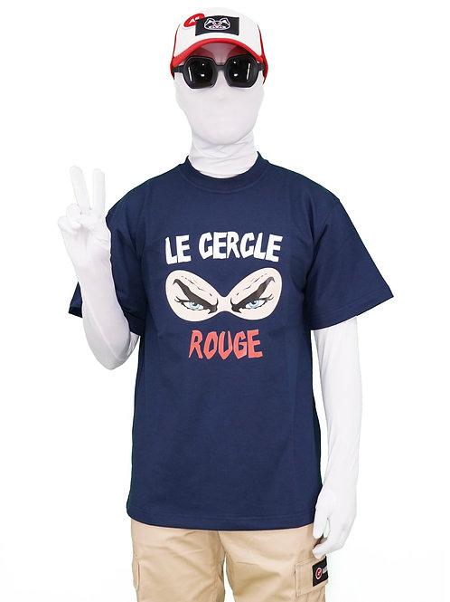 T-SHIRT LE CERCLE ROUGE NAVY BLUE