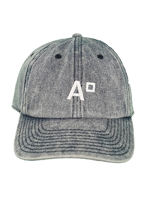 CAP LOGO WASHED DENIM