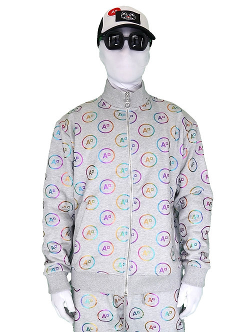 "SWEAT ""JOGGING MONOGRAM HEATHER GREY & MULTICOLOR"""
