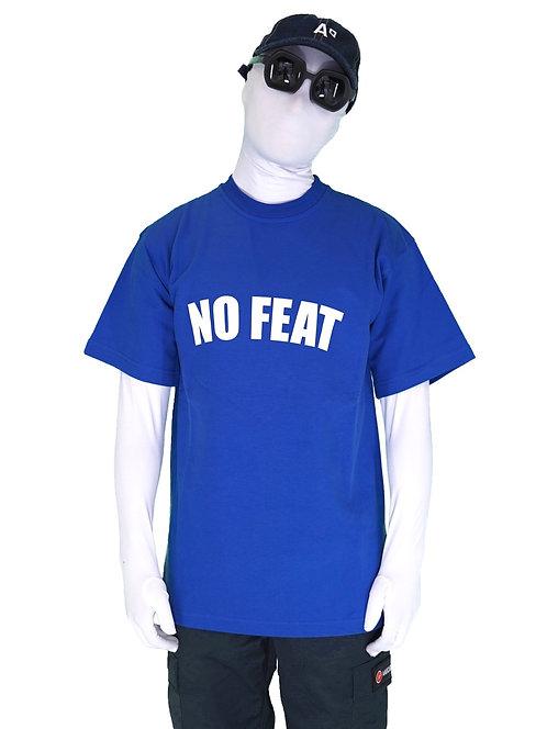 """T-SHIRT """"NO FEAT ROYAL BLUE"""""""