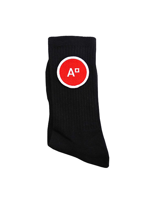 SOCKS LOGO BLACK & RED