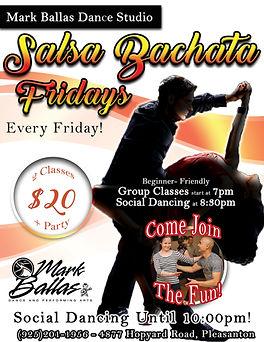 Salsa Bachata Social Friday Poster (Janu