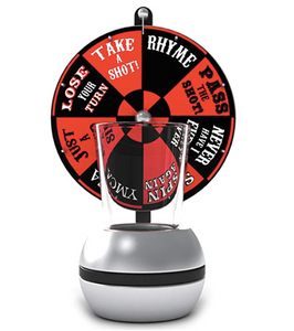 Barbuzzo Wheel of Shots - The Perfect Party Drinking Game - Pour a Shot, Spin the Wheel, & Take Your Chances - Great Gift for Home Entertaining, Kickbacks, Parties, Tailgates, & Celebrations, Amazon, $10.98
