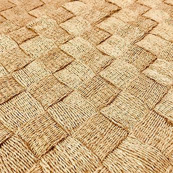 Handmade abaca carpet