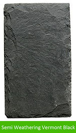 A traditional dark black slate.
