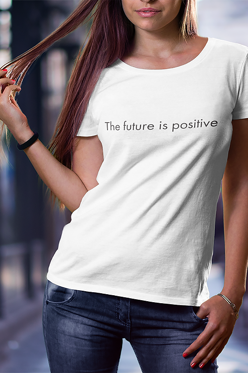 The future is positive - Oracle Girl - Women's Organic Fitted T-shirt