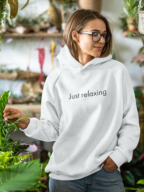 Just relaxing - OG - Unisex Organic Cruiser Hoodie White