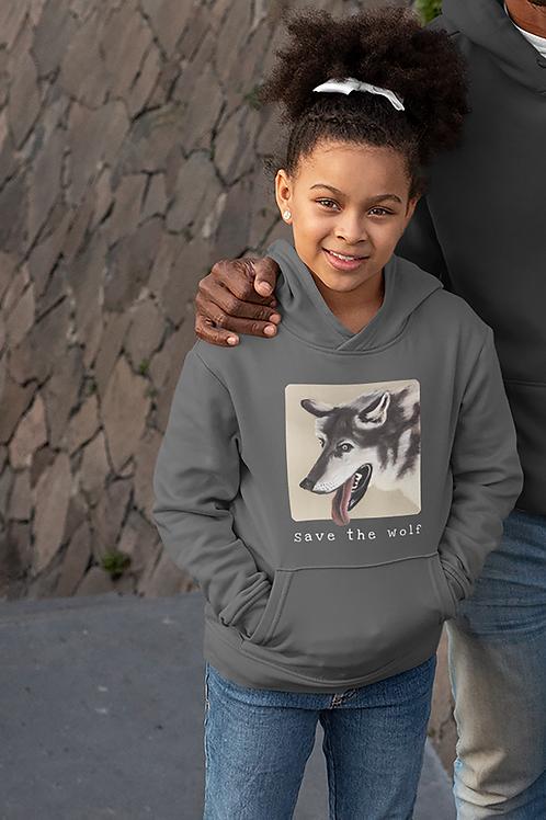 Save the wolf - Kids Hoodie