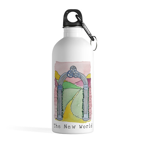 The New World - White Stainless Steel Water Bottle