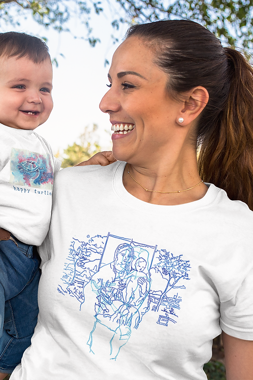 The Madonna and Child in the Garden - Women's Organic Fitted T-shirt