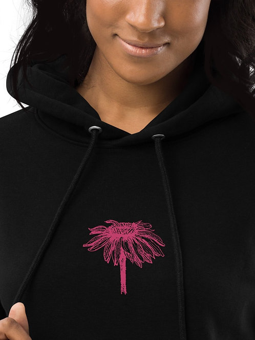 Echinacea - Embroidered Eco Hoodie dress