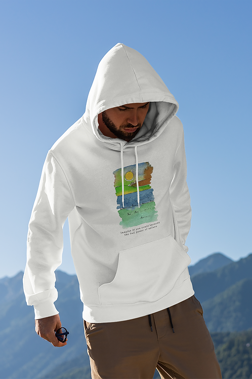 The Full Power of Nature - Men's Cruiser Organic Hoodie