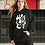 Thumbnail: Gold and togetherness - Oracle Girl - Women's organic Hoodie dress