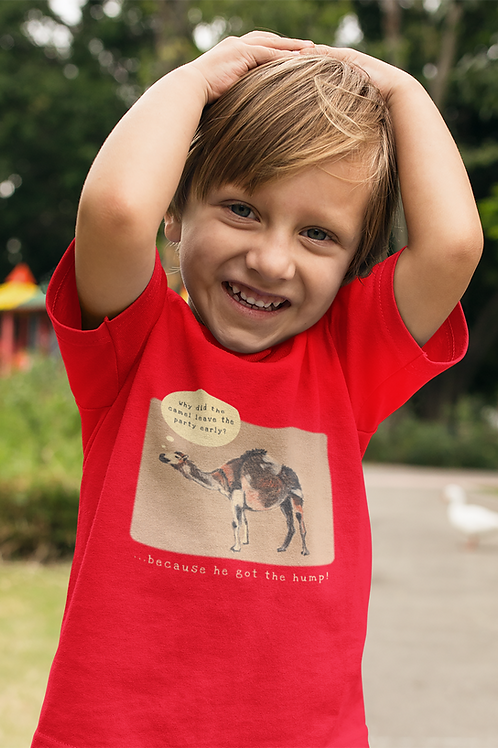 Why did the camel leave the party early? - Kids Heavy Cotton™ Tee
