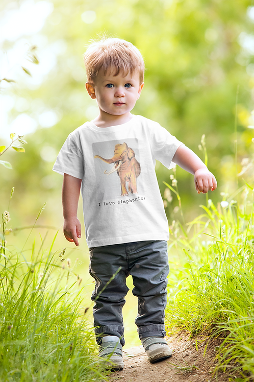 I love elephants! - Kids Heavy Cotton™ Tee