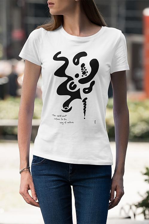 The world must return - Oracle Girl - Unisex Slim Fit Organic Cotton T-Shirt