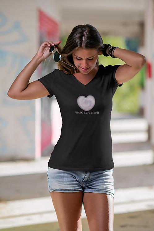 Heart, body & soul - Women's recycled v-neck t-shirt